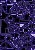 Ilustração artificial do circuito do cyber Fotografia de Stock Royalty Free