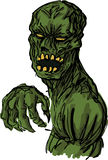 Ilustração assustador do zombi dos undead Foto de Stock Royalty Free