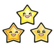 Ilustração bonito do vetor das estrelas do manga japonês Fotografia de Stock Royalty Free
