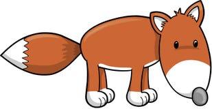 Ilustração bonito do vetor do Fox Fotografia de Stock Royalty Free