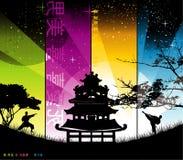 Ilustração chinesa do edifício Imagens de Stock