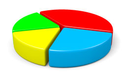 Ilustração colorida do diagrama de torta 3d Fotos de Stock Royalty Free