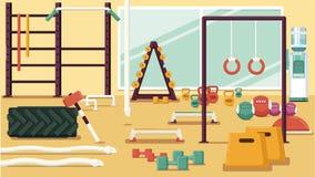 Ilustração colorida do Gym Fotos de Stock