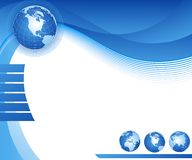 Ilustração com globo Fotos de Stock Royalty Free