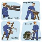 Ilustração com grupo de construtor Imagem de Stock