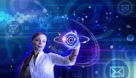 Ilustração conceptual do email e do Internet Foto de Stock