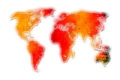 Ilustração da arte do projeto da pintura do mapa do mundo Fotos de Stock Royalty Free