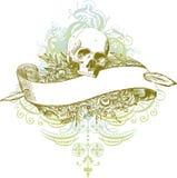 Ilustração da bandeira do crânio Fotos de Stock