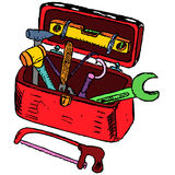 Ilustração da caixa de ferramentas Imagens de Stock Royalty Free