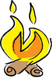 Ilustração da fogueira Imagem de Stock