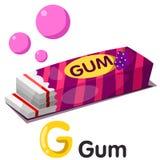 Ilustração da fonte de g com goma Imagens de Stock