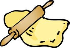 Ilustração da massa de pão do rolamento Imagens de Stock Royalty Free