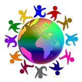 Ilustração da paz do mundo Imagens de Stock