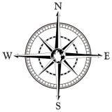 Ilustração da rosa de compasso Imagem de Stock Royalty Free