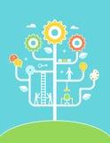 Ilustração da árvore do conceito Educação, desenvolvimento, Fotografia de Stock Royalty Free