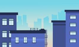 Ilustração da skyline da construção da cidade Imagens de Stock