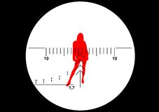 Ilustração da vista do rifle do atirador furtivo Foto de Stock Royalty Free