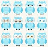 Ilustração das corujas dos desenhos animados Imagem de Stock Royalty Free