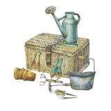 Ilustração de ferramentas de jardinagem Foto de Stock
