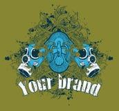 Ilustração de Grunge da máscara de gás Imagens de Stock