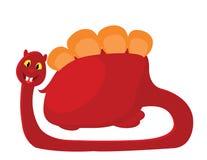 ilustração de um Dino vermelho Foto de Stock Royalty Free