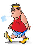Homem gordo esgotado Fotografia de Stock Royalty Free