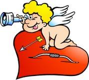 Ilustração de uma procura do menino do anjo de Amor Fotografia de Stock