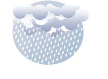 Ilustração de Wheather de gotas e de nuvens da chuva Imagens de Stock Royalty Free