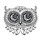 Ilustração decorativa da coruja Imagens de Stock