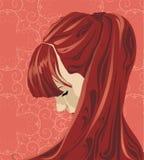 Ilustração decorativa do retrato Imagens de Stock Royalty Free