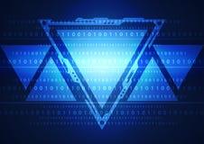 Ilustração do código binário no fundo abstrato da tecnologia Fotos de Stock Royalty Free
