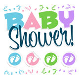 Ilustração do chuveiro de bebê Imagens de Stock