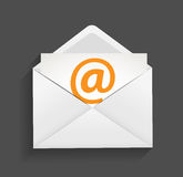 Ilustração do conceito da proteção do email Fotografia de Stock Royalty Free