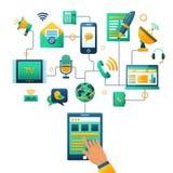 Ilustração do conceito de uma comunicação Imagens de Stock Royalty Free