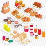Ilustração do conceito gráfico da comida lixo da informação Imagens de Stock