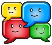 Ilustração do ícone engraçado do texto do balão Fotografia de Stock