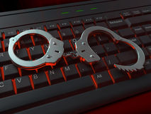 Ilustração do crime do Internet Fotos de Stock Royalty Free