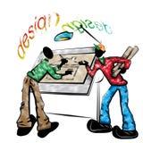 Ilustração do desenhador Imagem de Stock Royalty Free