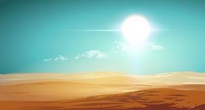 Ilustração do deserto do vetor Fotografia de Stock Royalty Free