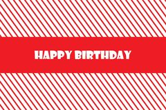 Ilustração do EPS 10 do vetor do cartão do feliz aniversario Imagem de Stock Royalty Free
