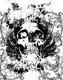 Ilustração do grunge do crânio Foto de Stock