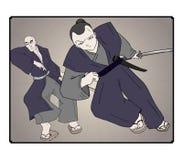 Ilustração do samurai Fotografia de Stock Royalty Free