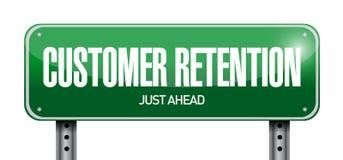 ilustração do sinal da retenção do cliente Imagens de Stock Royalty Free