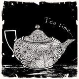 Ilustração do tempo do chá Fotografia de Stock