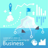 Ilustração do vectoor do negócio, startap infographic Fotografia de Stock Royalty Free