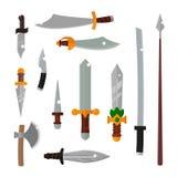 Ilustração do vetor da arma das facas Imagem de Stock