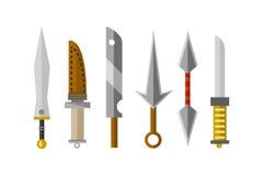 Ilustração do vetor da arma das facas Fotografia de Stock