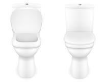 Ilustração do vetor da bacia de toalete Foto de Stock Royalty Free