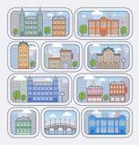 Ilustração do vetor da cidade Fotografia de Stock Royalty Free