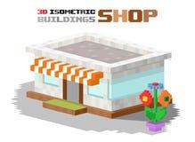 Ilustração do vetor da construção do mercado da loja Fotos de Stock Royalty Free